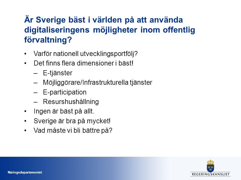 Är Sverige bäst i världen på att använda digitaliseringens möjligheter inom offentlig förvaltning