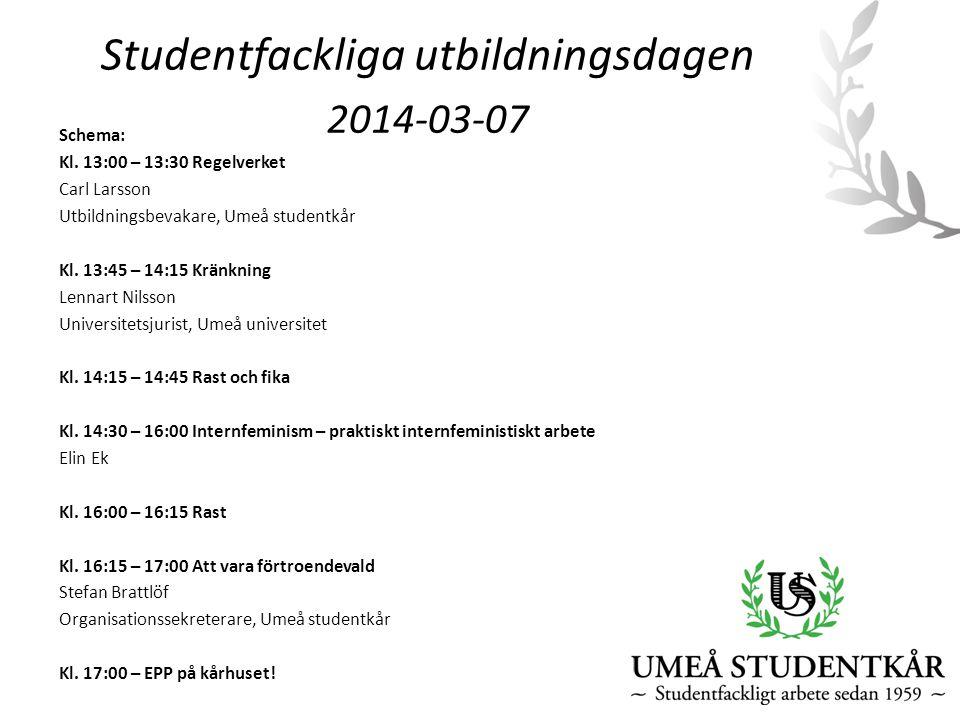 Studentfackliga utbildningsdagen 2014-03-07