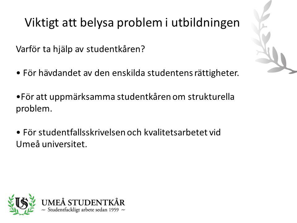Viktigt att belysa problem i utbildningen