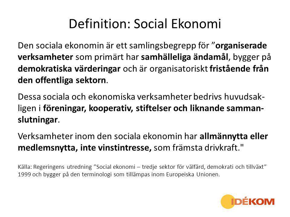 Definition: Social Ekonomi