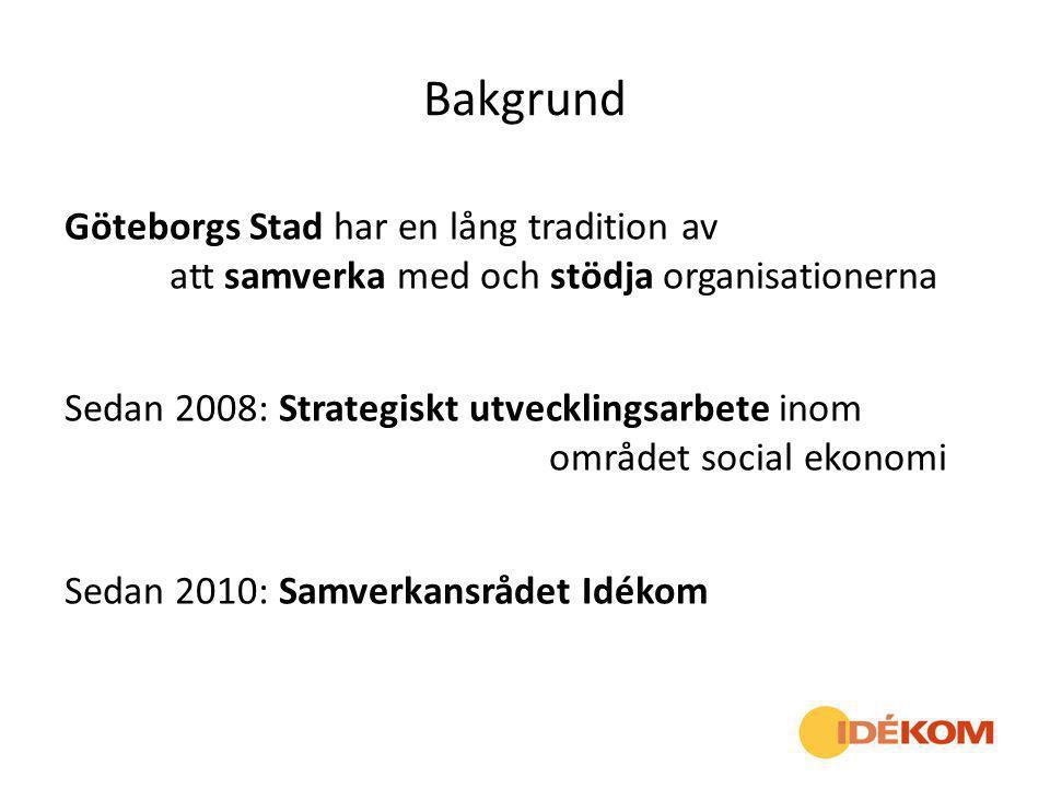 Bakgrund Göteborgs Stad har en lång tradition av