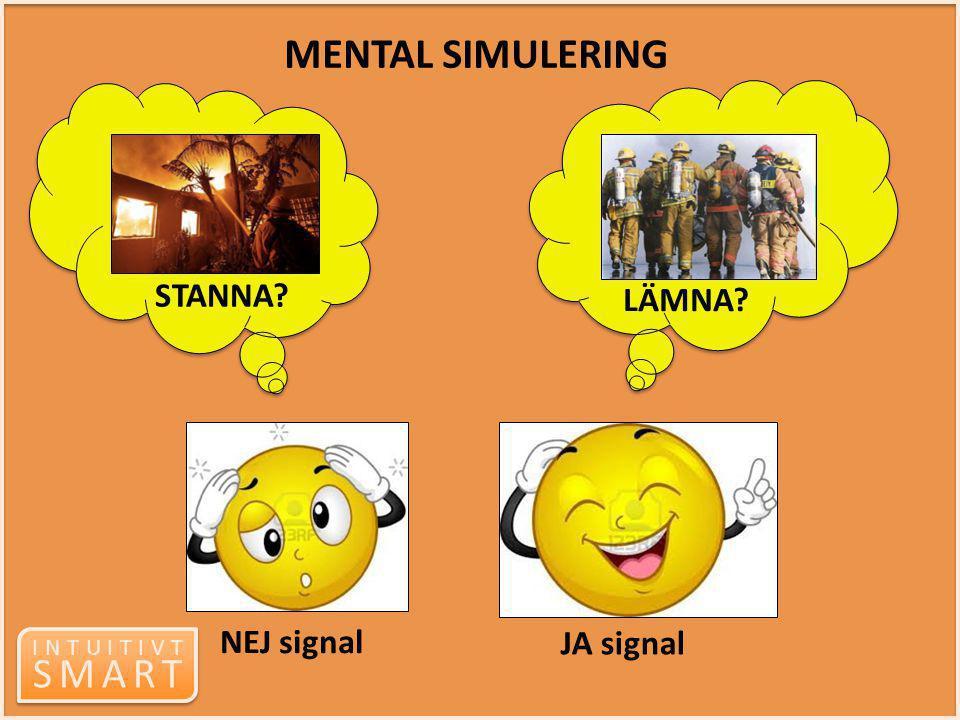MENTAL SIMULERING STANNA LÄMNA NEJ signal JA signal