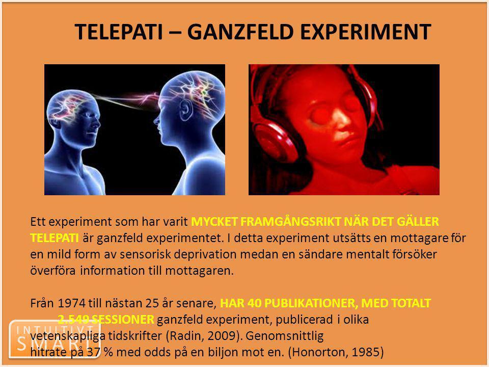 TELEPATI – GANZFELD EXPERIMENT