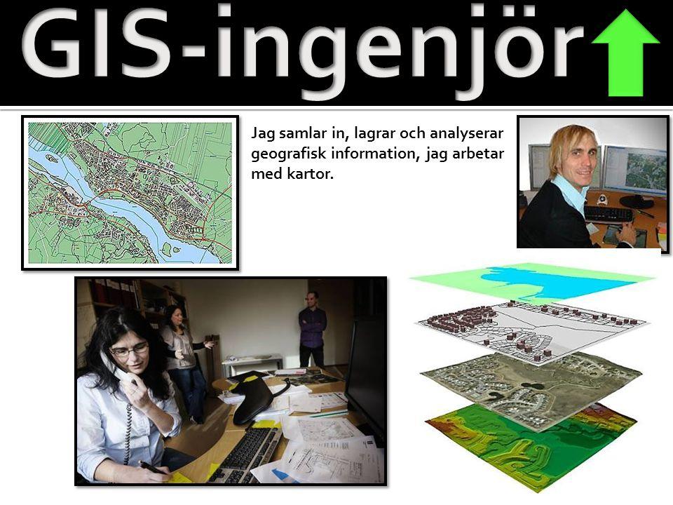 GIS-ingenjör Jag samlar in, lagrar och analyserar