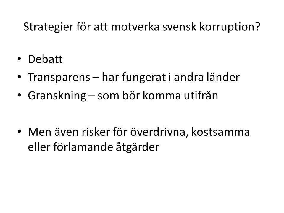 Strategier för att motverka svensk korruption