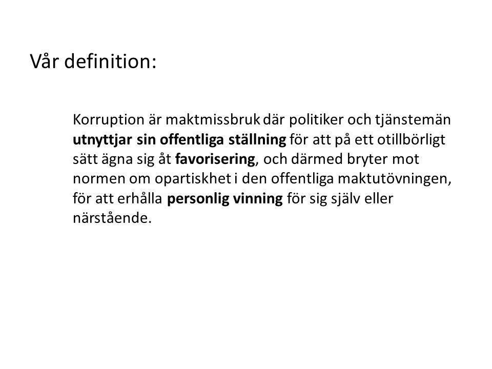 Vår definition: