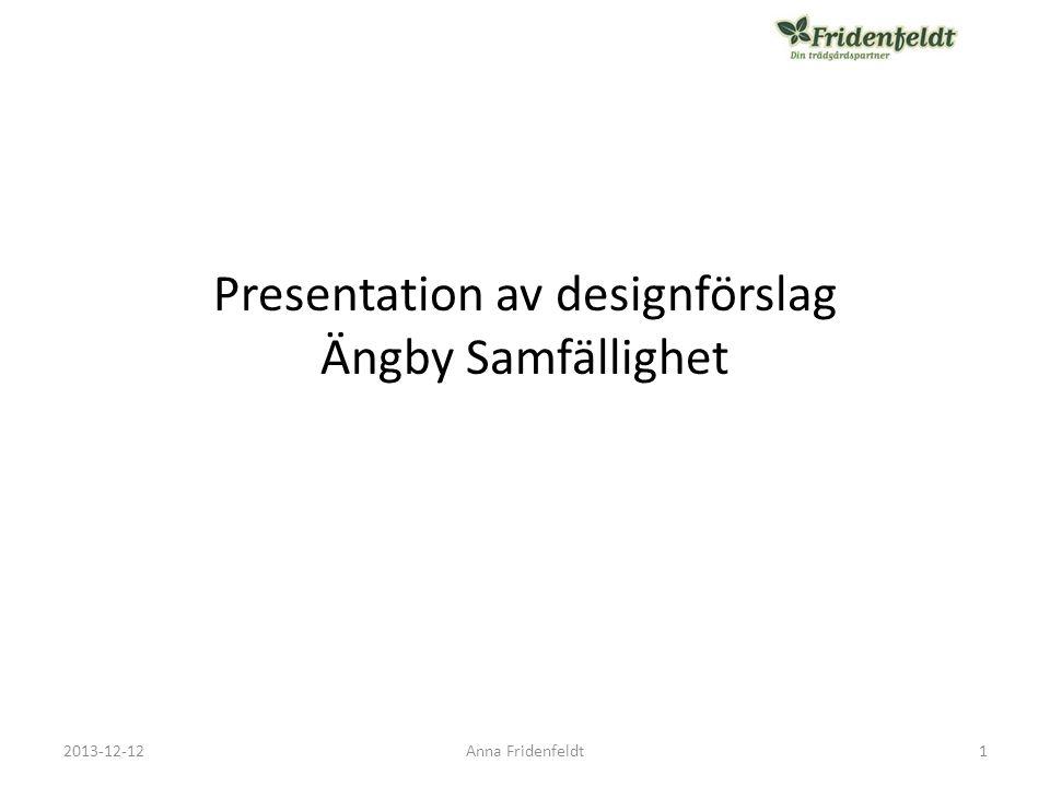 Presentation av designförslag