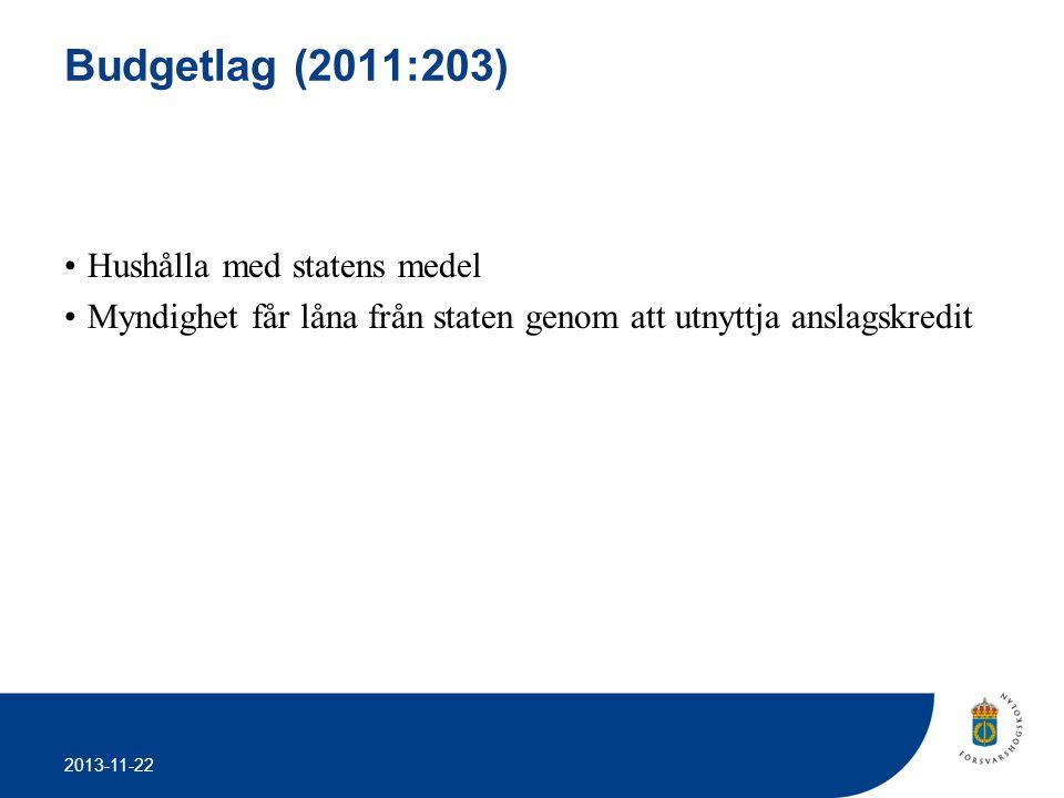 Budgetlag (2011:203) Hushålla med statens medel