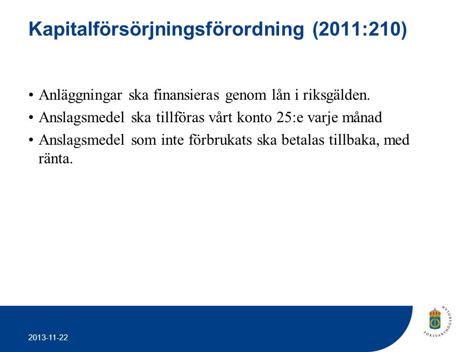 Kapitalförsörjningsförordning (2011:210)