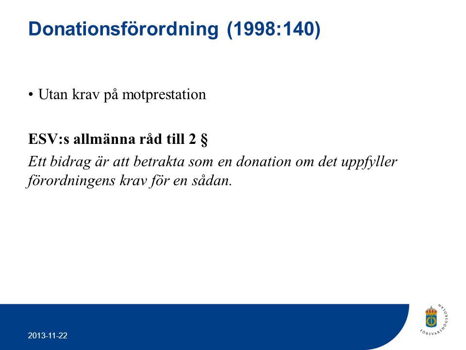 Donationsförordning (1998:140)