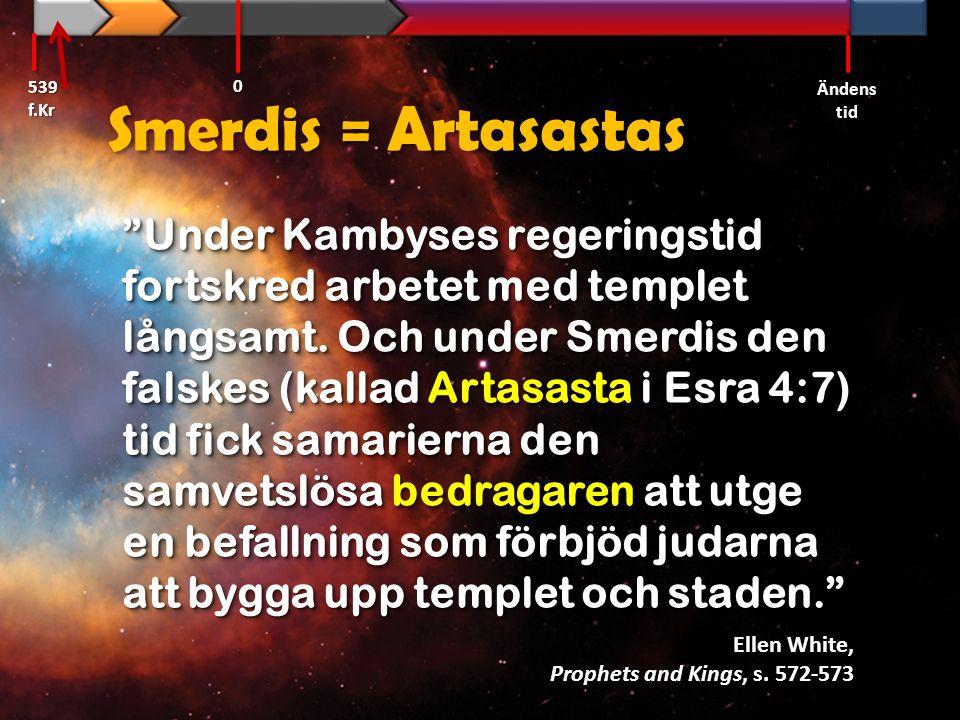539 f.Kr Ändens tid. Smerdis = Artasastas.