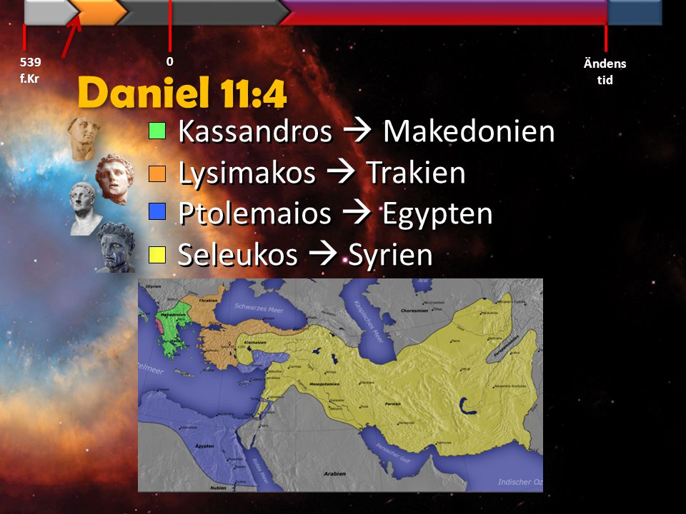 Daniel 11:4 Kassandros  Makedonien Lysimakos  Trakien