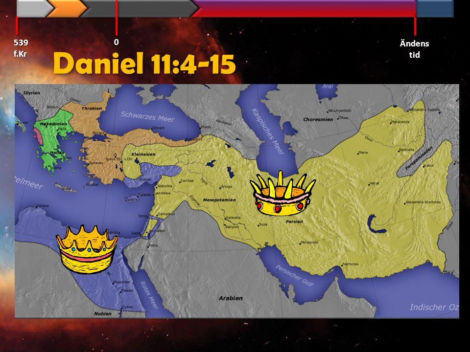 539 f.Kr Ändens tid Daniel 11:4-15