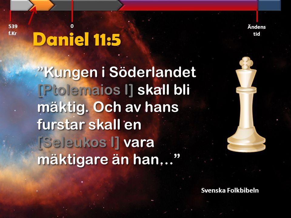 539 f.Kr Ändens tid. Daniel 11:5.