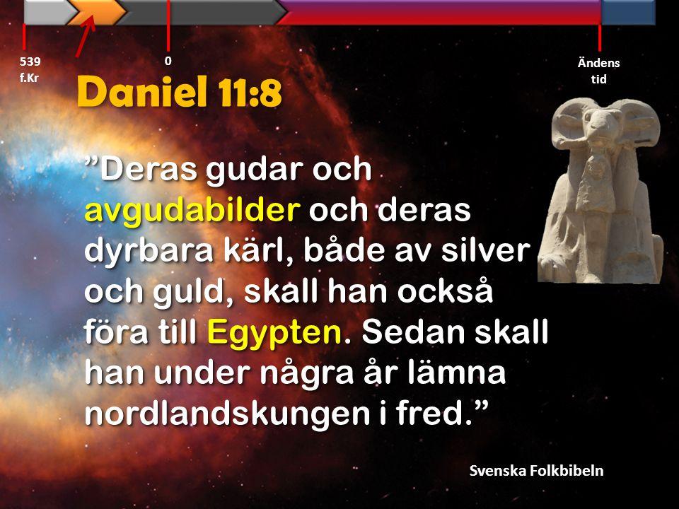 539 f.Kr Ändens tid. Daniel 11:8.