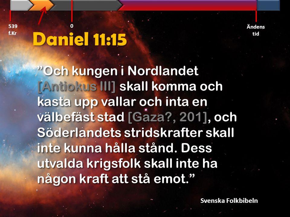 539 f.Kr Ändens tid. Daniel 11:15.