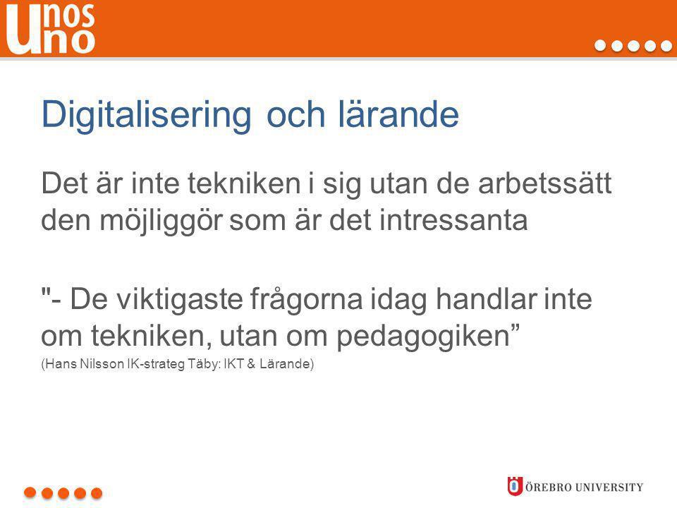 Digitalisering och lärande