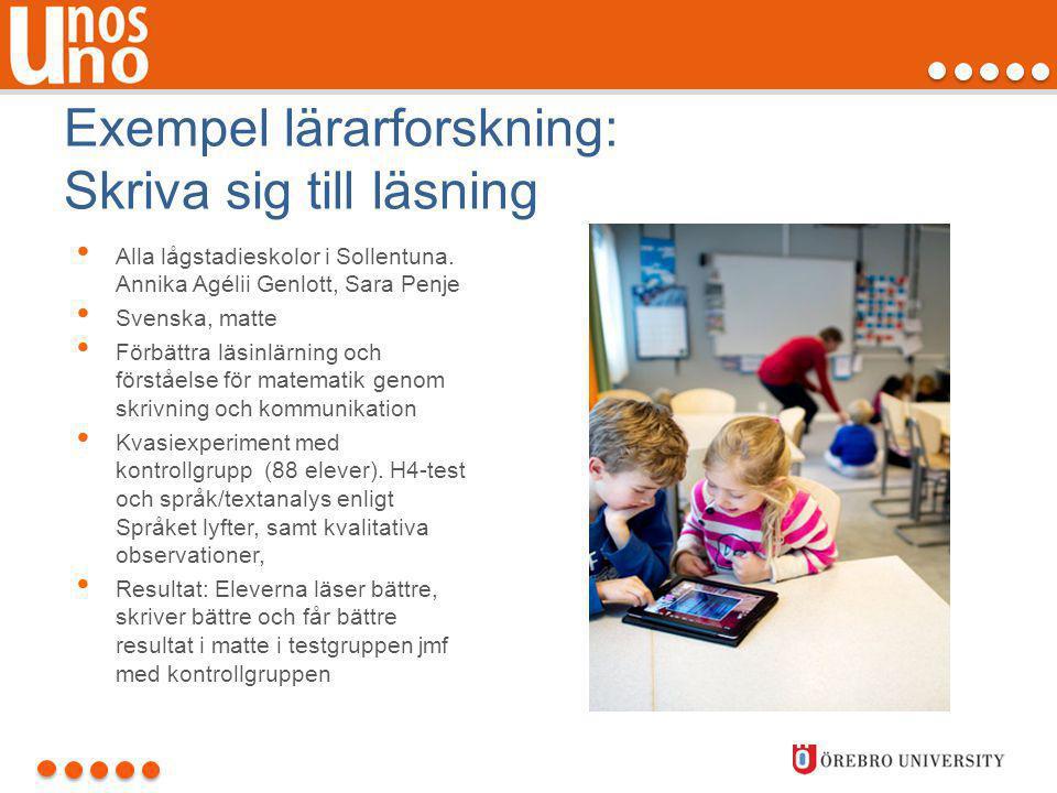 Exempel lärarforskning: Skriva sig till läsning