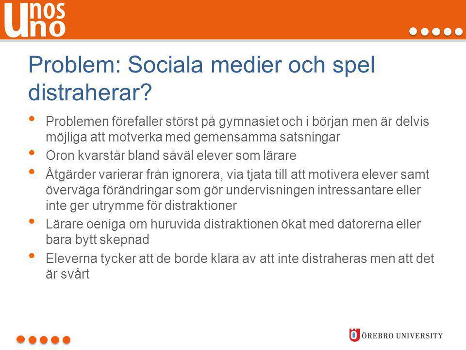 Problem: Sociala medier och spel distraherar