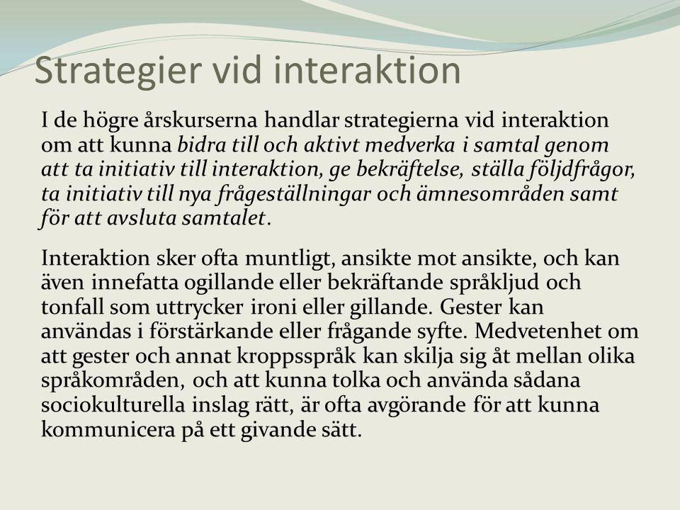 Strategier vid interaktion