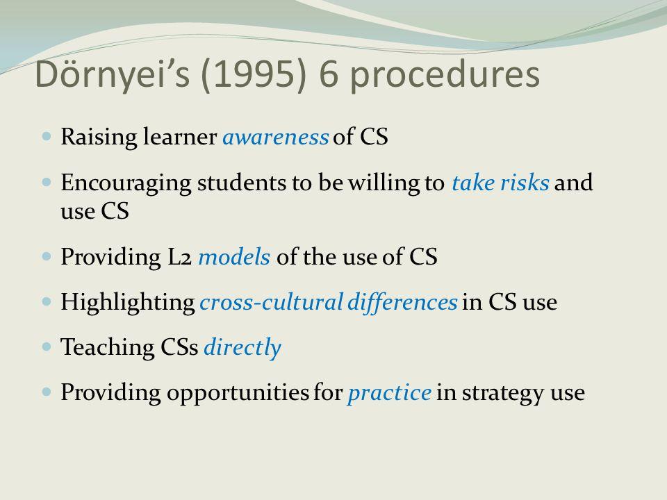 Dörnyei's (1995) 6 procedures