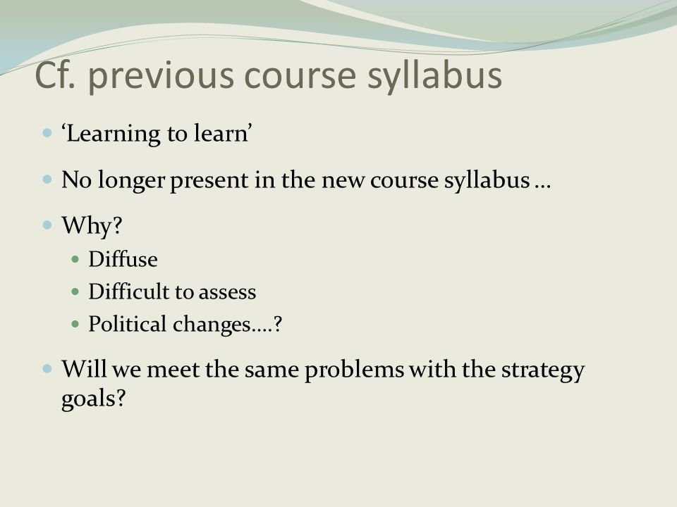 Cf. previous course syllabus