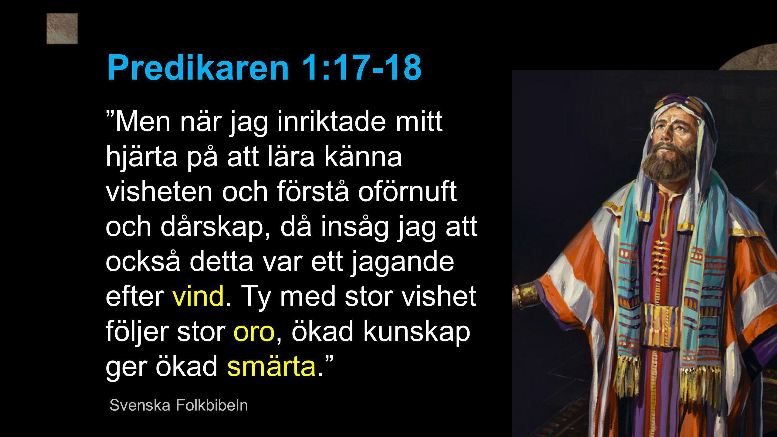 Predikaren 1:17-18
