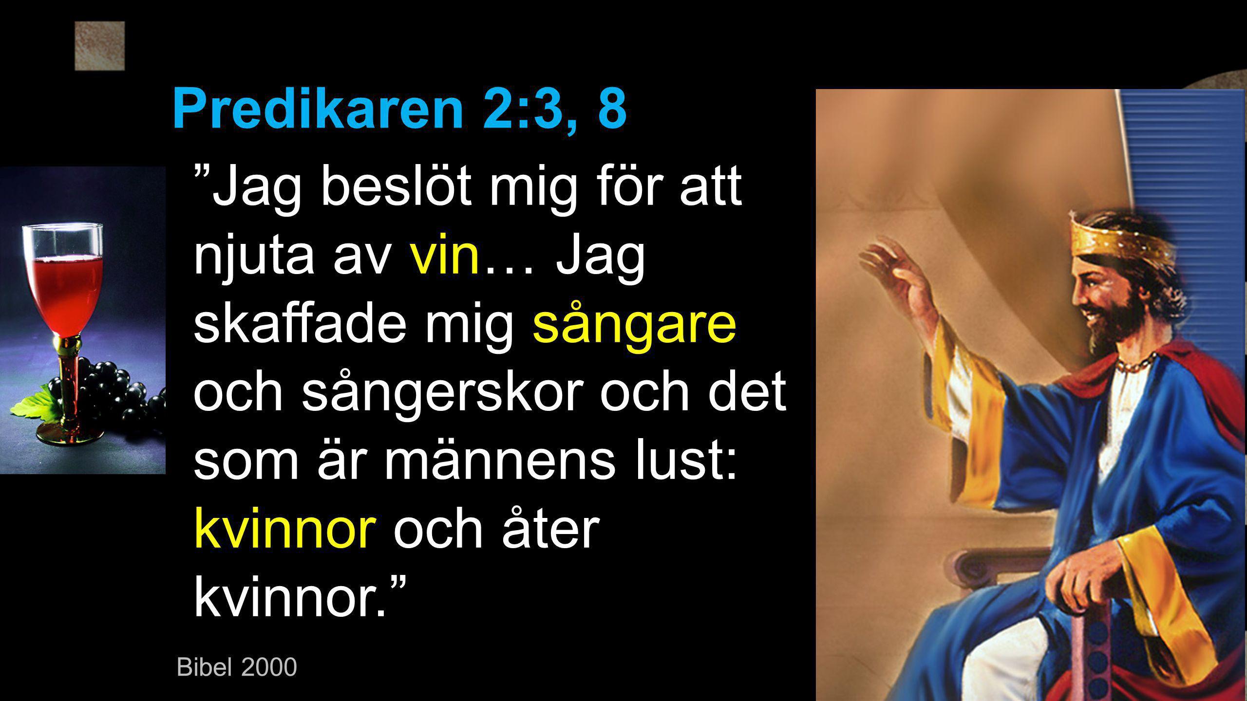 Predikaren 2:3, 8