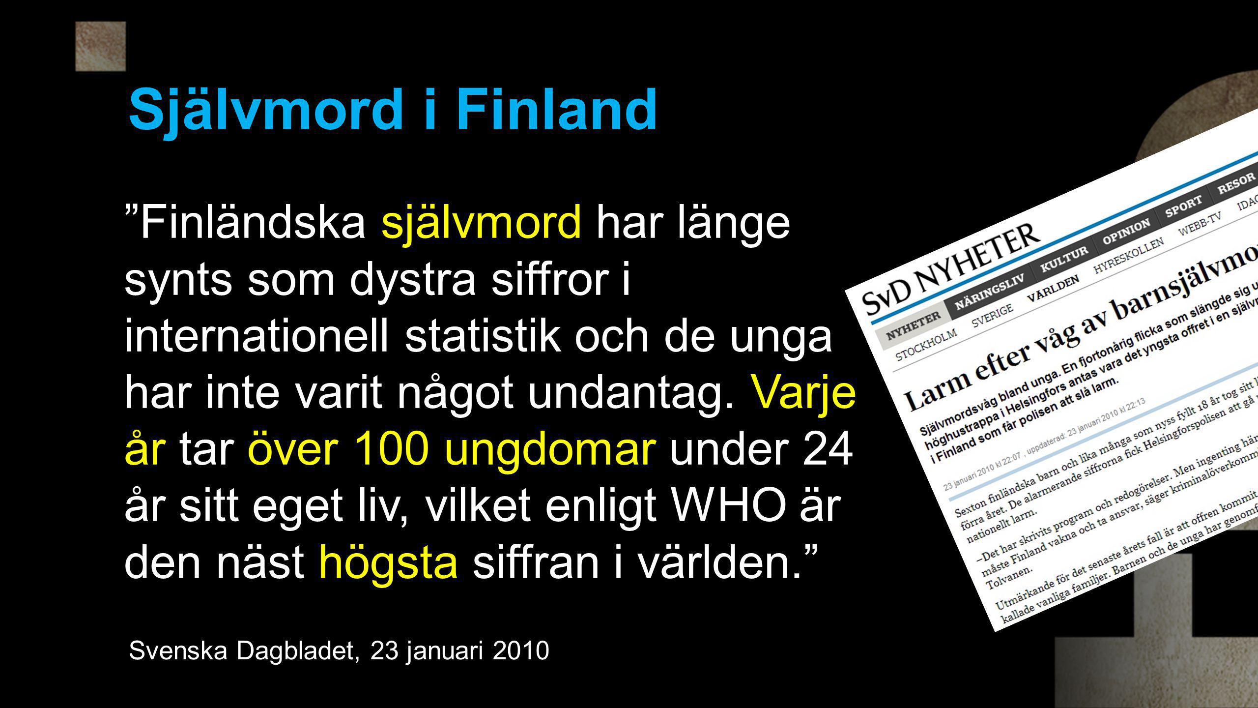 Självmord i Finland