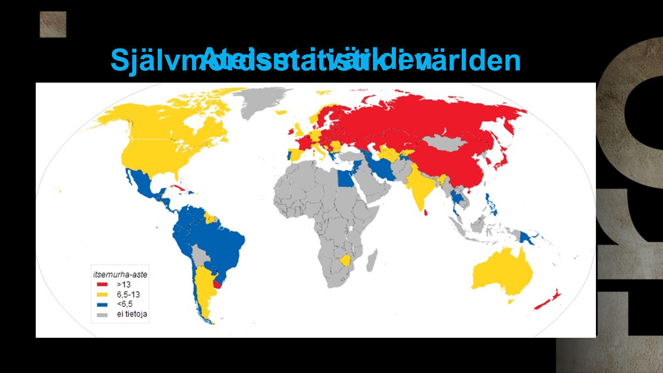 Självmordsstatistik i världen