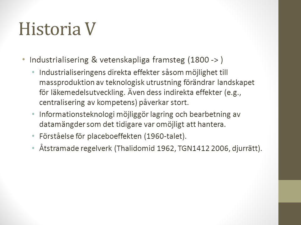 Historia V Industrialisering & vetenskapliga framsteg (1800 -> )