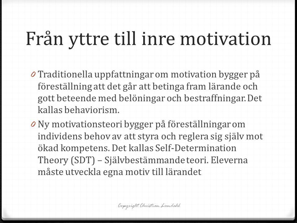 Från yttre till inre motivation