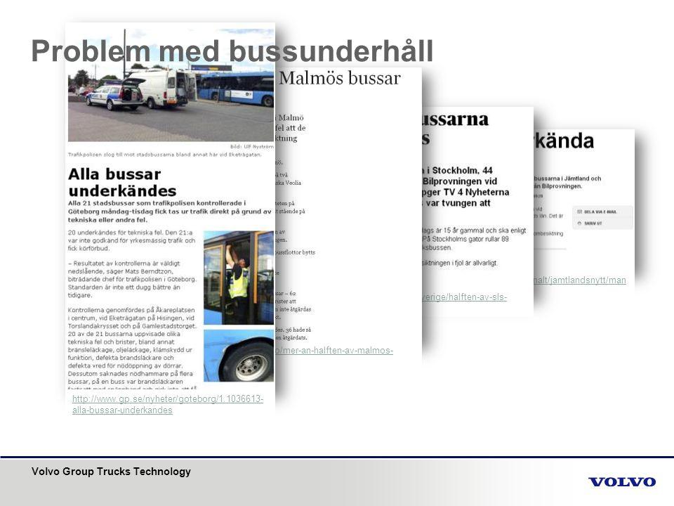 Problem med bussunderhåll