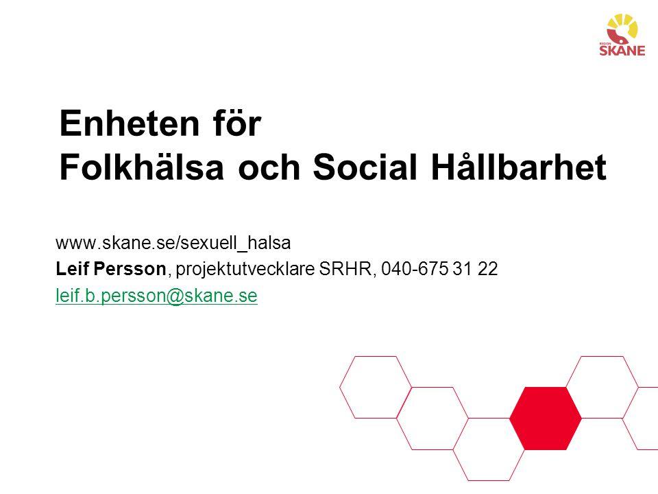 Enheten för Folkhälsa och Social Hållbarhet