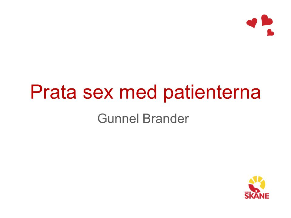 Prata sex med patienterna
