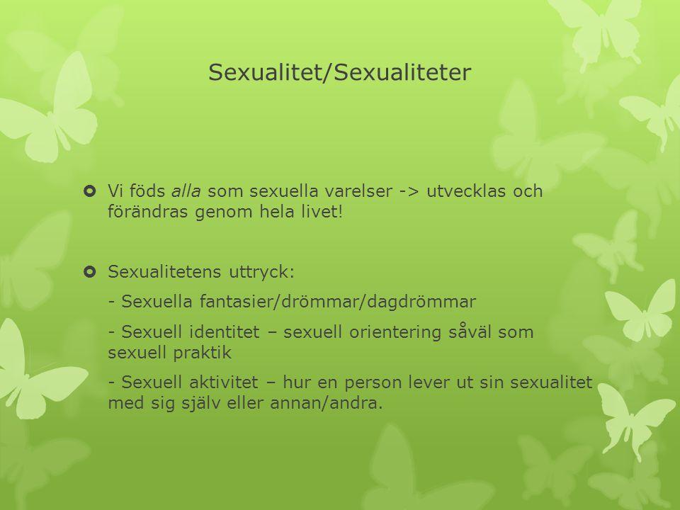 Sexualitet/Sexualiteter