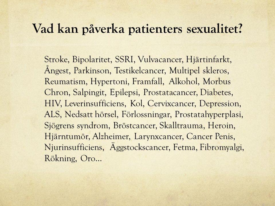 Vad kan påverka patienters sexualitet