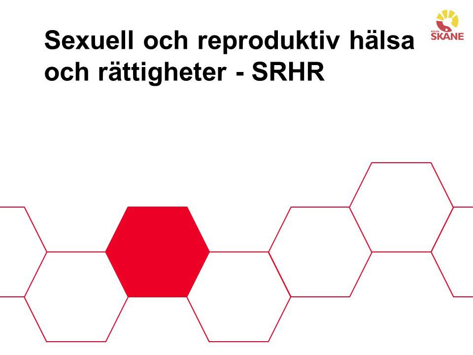 Sexuell och reproduktiv hälsa och rättigheter - SRHR