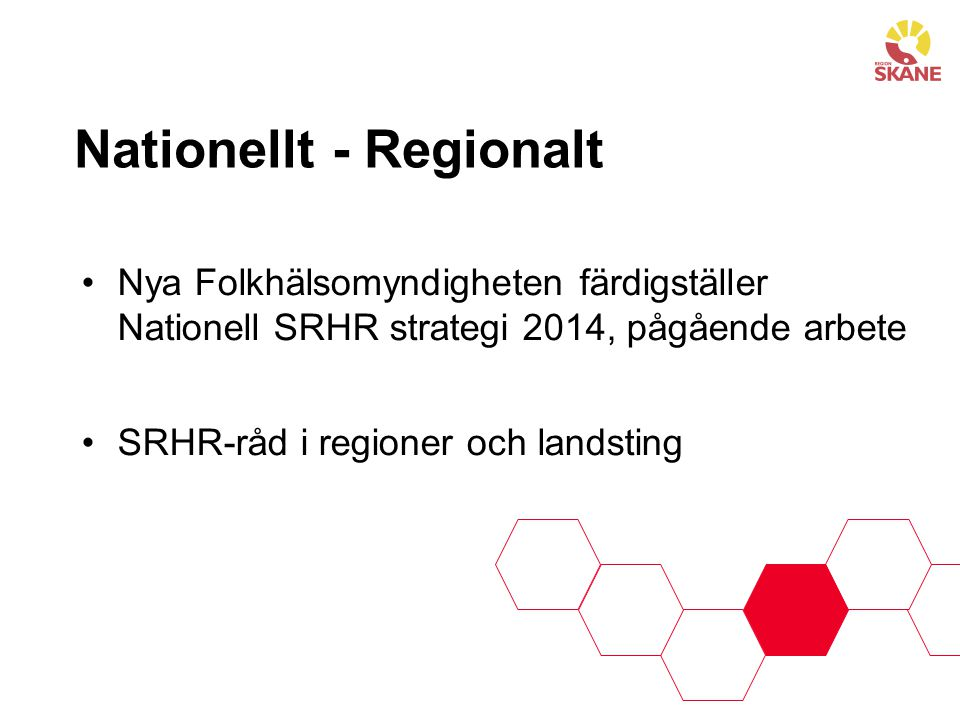 Nationellt - Regionalt