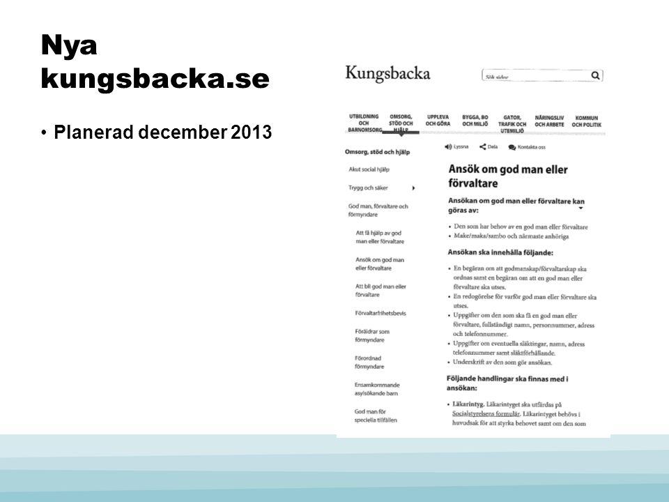Nya kungsbacka.se Planerad december 2013