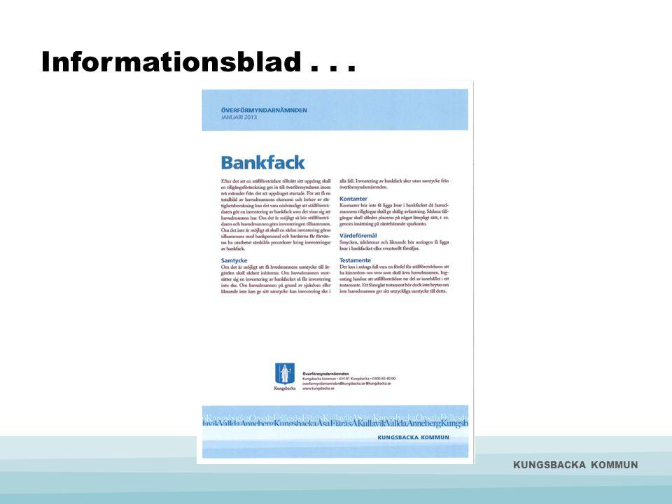 Informationsblad . . . KUNGSBACKA KOMMUN