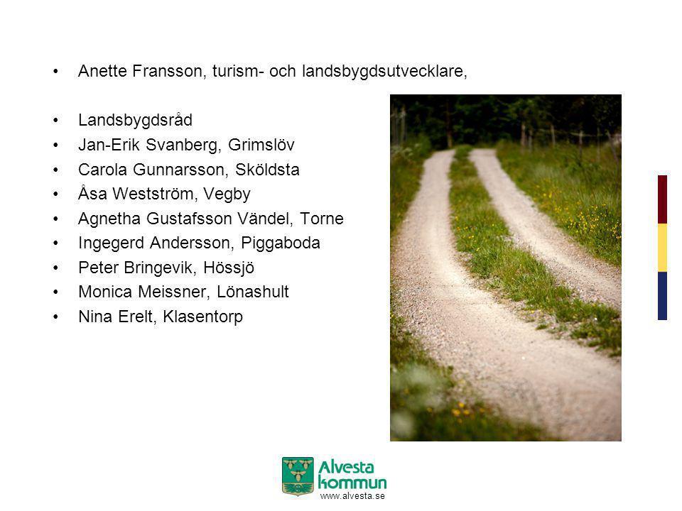 Anette Fransson, turism- och landsbygdsutvecklare, Landsbygdsråd