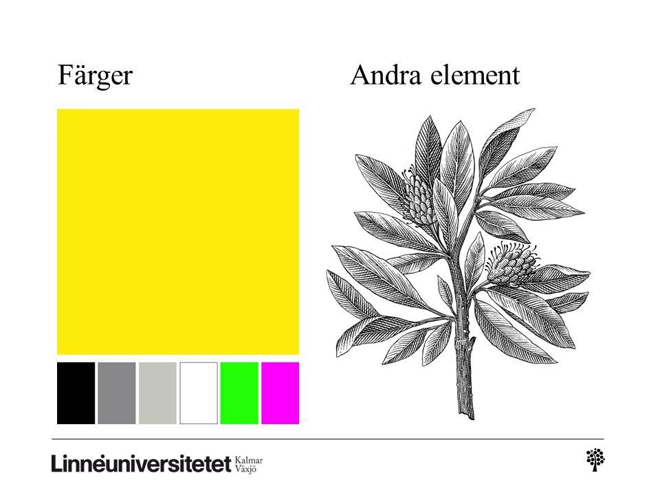 Färger Andra element