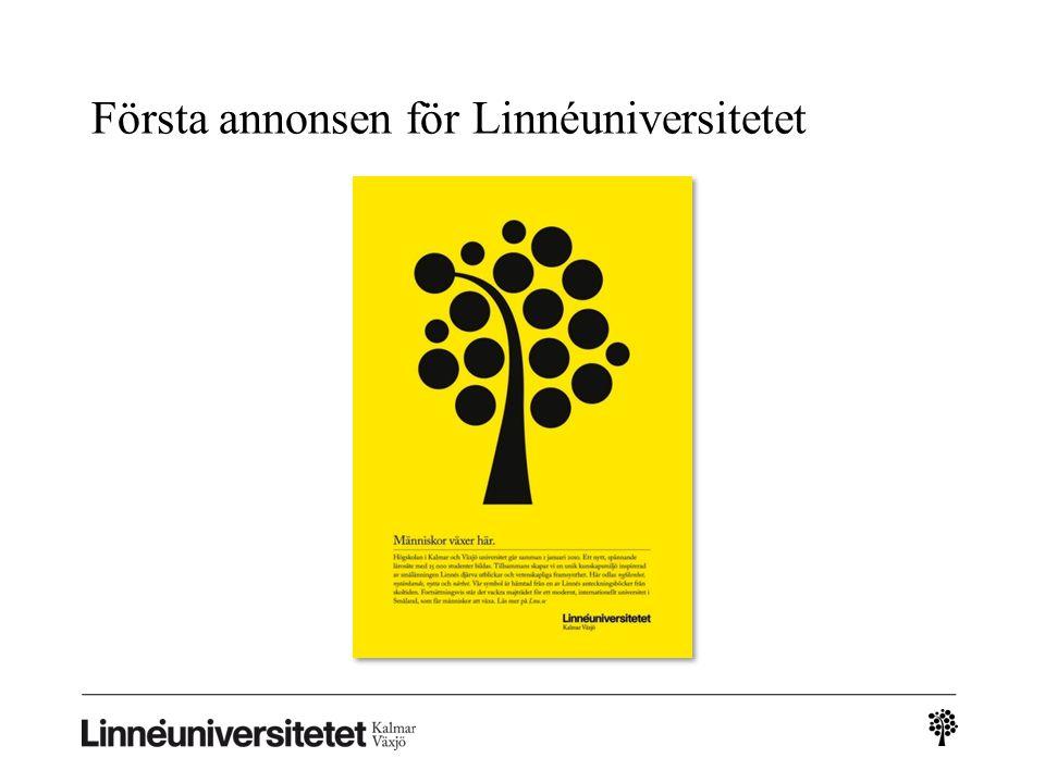 Första annonsen för Linnéuniversitetet