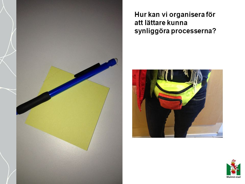 Hur kan vi organisera för att lättare kunna synliggöra processerna
