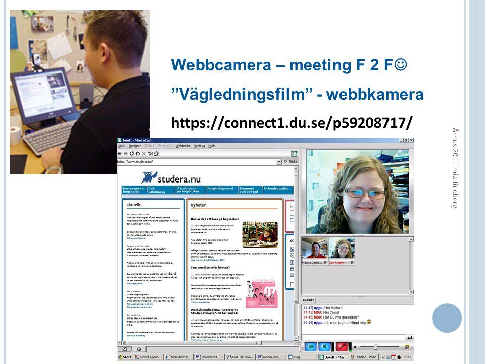 Webbcamera – meeting F 2 F Vägledningsfilm - webbkamera