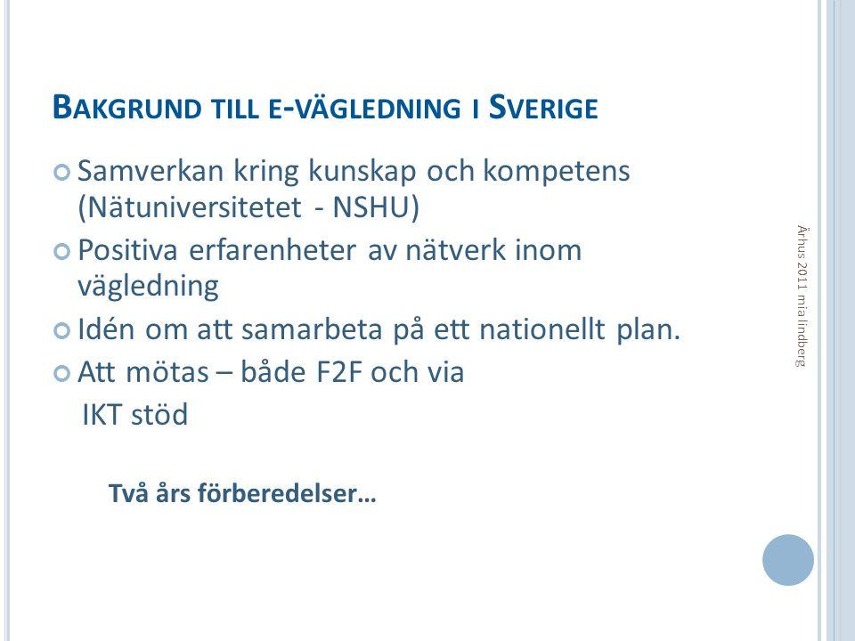 Bakgrund till e-vägledning i Sverige