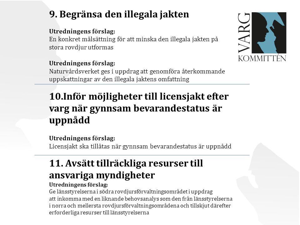 9. Begränsa den illegala jakten