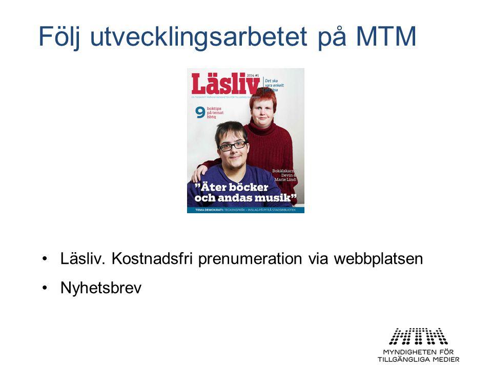 Följ utvecklingsarbetet på MTM