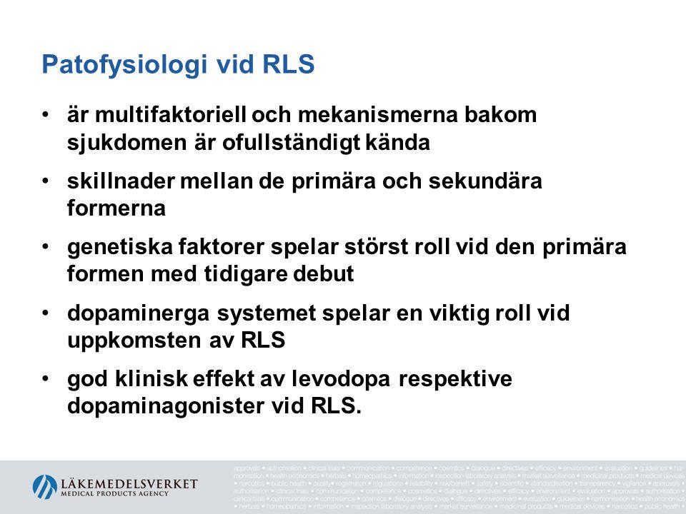 Patofysiologi vid RLS är multifaktoriell och mekanismerna bakom sjukdomen är ofullständigt kända.